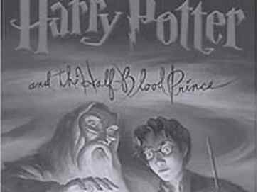 Фрагмент обложки книги Гарри Поттер и принц-полукровка, иллюстрация